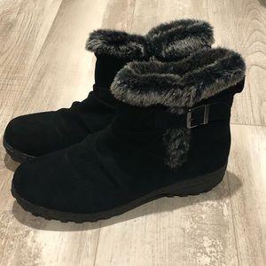 """Khombu """"Lindsey"""" black suede ankle boots"""